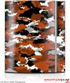 Sony PS3 Skin WraptorCamo Digital Camo Burnt Orange