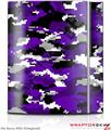 Sony PS3 Skin WraptorCamo Digital Camo Purple