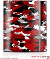 Sony PS3 Skin WraptorCamo Digital Camo Red