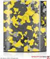 Sony PS3 Skin WraptorCamo Old School Camouflage Camo Yellow