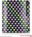 Sony PS3 Skin Pastel Hearts on Black