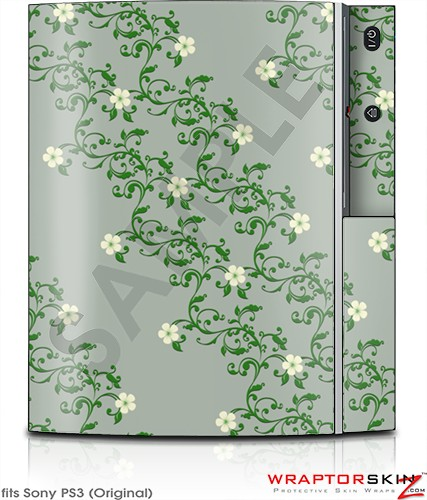 Sony PS3 Skin - Victorian Design Green
