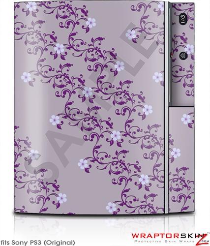Sony PS3 Skin - Victorian Design Purple