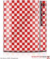 Sony PS3 Skin Checkered Canvas Red and White