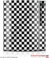 Sony PS3 Skin Checkered Canvas Black and White