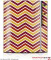 Sony PS3 Skin Zig Zag Yellow Burgundy Orange
