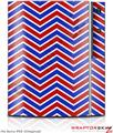 Sony PS3 Skin Zig Zag Red White and Blue