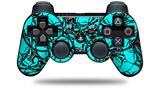 Scattered Skulls Neon Teal - Decal Style Skin fits Sony PS3 Controller (CONTROLLER NOT INCLUDED)