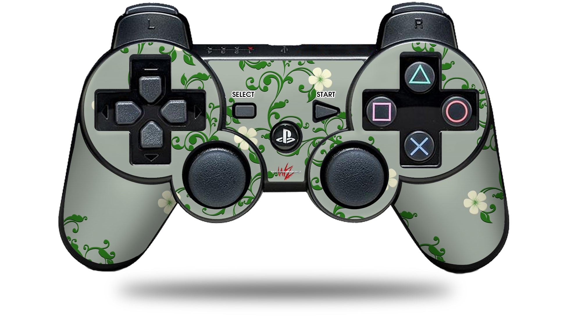 Sony PS3 Controller Skin - Victorian Design Green