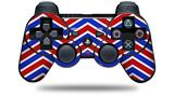 Zig Zag Red White and Blue - Decal Style Skin fits Sony PS3 Controller (CONTROLLER NOT INCLUDED)