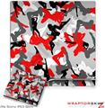 Sony PS3 Slim Skin Sexy Girl Silhouette Camo Red