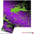 Sony PS3 Slim Skin Halftone Splatter Green Purple