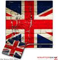 Sony PS3 Slim Skin Painted Faded and Cracked Union Jack British Flag