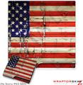 Sony PS3 Slim Skin Painted Faded and Cracked USA American Flag