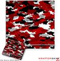 Sony PS3 Slim Skin WraptorCamo Digital Red