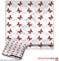 Sony PS3 Slim Skin - Pastel Butterflies Red on White