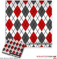 Sony PS3 Slim Skin - Argyle Red and Gray