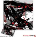 Sony PS3 Slim Skin - Abstract 02 Red