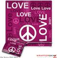 Sony PS3 Slim Skin - Love and Peace Hot Pink