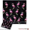 Sony PS3 Slim Skin - Flamingos on Black