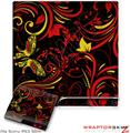 Sony PS3 Slim Skin - Twisted Garden REd and Yellow