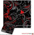 Sony PS3 Slim Skin - Twisted Garden Gray and Red