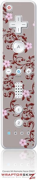 Wii Remote Controller Skin - Victorian Design Red