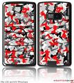 LG enV2 Skin Sexy Girl Silhouette Camo Red
