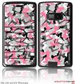 LG enV2 Skin Sexy Girl Silhouette Camo Pink