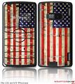 LG enV2 Skin Painted Faded and Cracked USA American Flag