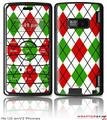 LG enV2 Skin - Argyle Red and Green