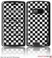 LG enV2 Skin - Checkered Canvas Black and White