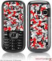 LG Rumor 2 Skin Sexy Girl Silhouette Camo Red