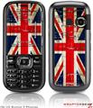 LG Rumor 2 Skin Painted Faded and Cracked Union Jack British Flag