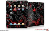 iPad Skin - Twisted Garden Gray and Red