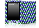 Zig Zag Blue Green - Decal Style Skin for Amazon Kindle DX