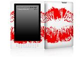 Big Kiss Lips Red on White - Decal Style Skin for Amazon Kindle DX