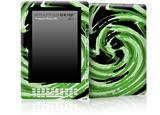 Alecias Swirl 02 Green - Decal Style Skin for Amazon Kindle DX