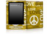 Love and Peace Yellow - Decal Style Skin for Amazon Kindle DX