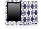 Argyle Blue and Gray - Decal Style Skin for Amazon Kindle DX