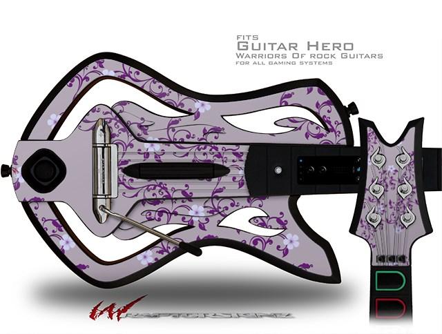Warriors Of Rock Guitar Hero Skin - Victorian Design Purple
