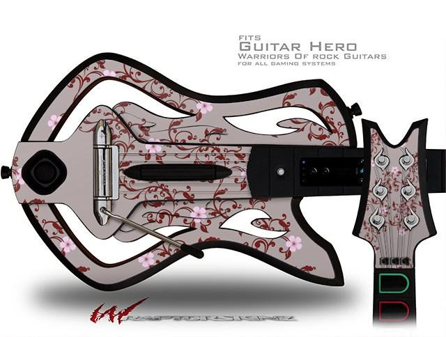 Warriors Of Rock Guitar Hero Skin - Victorian Design Red