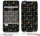 iPod Touch 4G Skin - Kearas Hearts Black