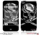 iPod Touch 4G Skin - Chrome Skull on Black