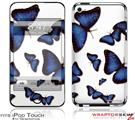 iPod Touch 4G Skin - Butterflies Blue