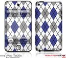 iPod Touch 4G Skin - Argyle Blue and Gray