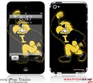 iPod Touch 4G Skin - Iowa Hawkeyes Herky on Black