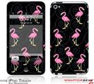 iPod Touch 4G Skin - Flamingos on Black