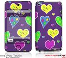 iPod Touch 4G Skin - Crazy Hearts