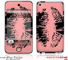 iPod Touch 4G Skin - Big Kiss Black on Pink